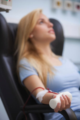 Woman Receiving Dialysis Treatment