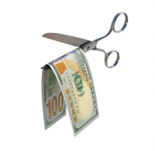 Scissors Cut $100 Bill - Are Medical Malpractice Lawsuit Awards Taxable?