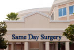 Outpatient Surgery Facility with sign: Same Day Surgery
